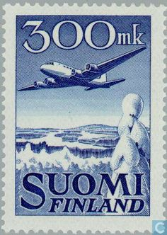 Stamps - Finland - 30000 Blue