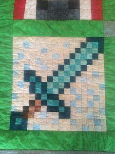 Diamond Sword, by Jennifer Rowles, free Minecraft pattern on fandominstitches.com