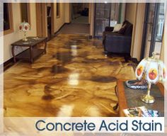 love the idea of an acid stain for the basement floor