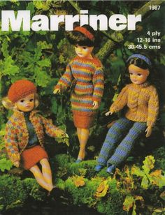 Sindy doll knitting pattern, I'm sure mum used to knit some of these for our jumble sale day at Hornby Rd.