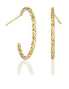 De Beers    Lignes de Couleurs gold and diamond hoops, price on request.