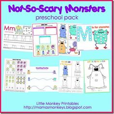 """Not-So-Scary Monsters"" Preschool Pack"