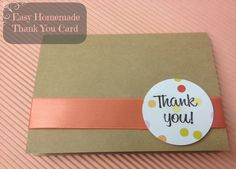 Cute and Easy Kraft Thank You Card Tutorial