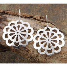 Sterling Silver Spring Flower Dangle Earrings (Mexico) | Overstock.com Shopping - Great Deals on Earrings