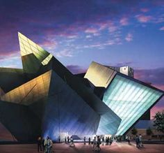 Great shot of Denver Art Museum by architect I. M. Pei who also designed the Mesa Laboratory in Boulder.