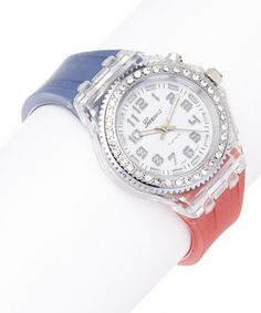 Another great find on #zulily! Red, White & Blue Light-Up Watch #zulilyfinds