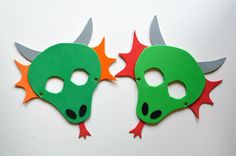 FREE Printable for these cute dragon masks!