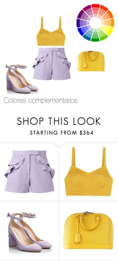 Colores complementarios by roxana-montano-puga on Polyvore featuring moda, Isa Arfen, Elie Saab, Fratelli Karida and Louis Vuitton