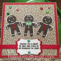 Everyone needs this punch and stamp set. Stampin Up! Cookie Cutter Christmas.