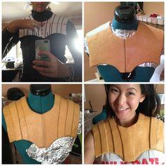 ideas for chest armor (use cardboard instead)