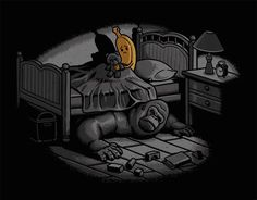 Not everyday we come across clever illustrations like the ones artist Ben Chen creates. Full of dark humor and combined ingeniously with pop culture Chen, Arte Pop, Witcher Wallpaper, Monster Under The Bed, Banana Art, Pop Culture References, Arte Horror, Humor Grafico, Cultura Pop