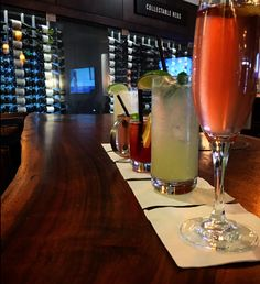 Our mixologist serves a variety of crafted cocktails!
