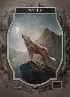 Wolf Token for MTG (Jason Engle)