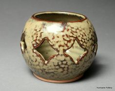 Luminary Hand Thrown and Hand Carved Porcelain Pottery. $20.00, via Etsy.