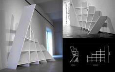 Well.... this one is totally crazy    http://ergonomicofficefurnitures.com/wp-content/uploads/2010/12/bookshelf-room-divider.jpg