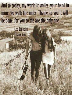 ☮ American Hippie Music ☮ Led Zeppelin, Thank You lyrics
