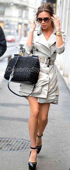 VICTORIA BECKHAM  Dolce & Gabbana MISS SICILY CROCHET TOTE