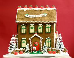 the solvang bakery - christmas - personalized gingerbread manor house
