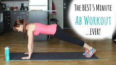 The BEST 5 minute Ab Workout! I promise you will feel this the next day!
