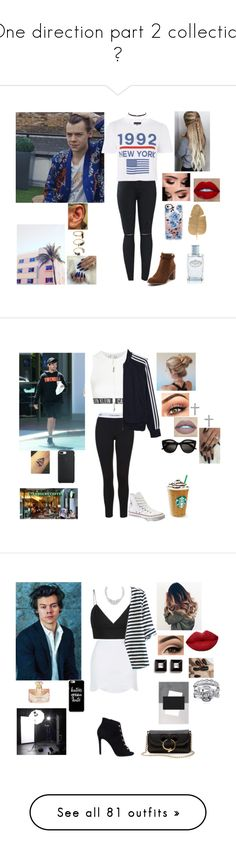 """""""One direction part 2 collection 💗"""" by tiffany-london-1 ❤ liked on Polyvore featuring Topshop, Billini, Jessica Simpson, Casetify, Prada, Noir Jewelry, Calvin Klein, adidas Originals, Converse and Lafonn"""