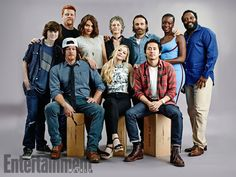 The Walking Dead cast at San Diego Comic-Con 2014 Walking Dead Comics, Fear The Walking Dead, Chandler Riggs, Andrew Lincoln, Vampire Diaries, The Walk Dead, Plus Tv, Emily Kinney, Melissa Mcbride