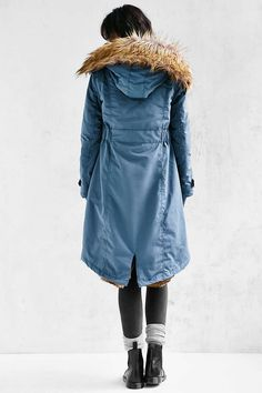 Members Only Faux Fur-Lined Hooded Parka - Urban Outfitters