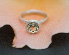 Green Amethyst Set in a Sterling Silver Ring   by williamwhite, $120.00