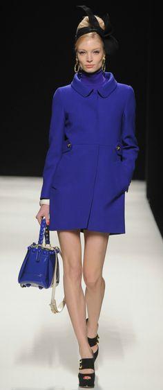 Moschino | i love bright colored coats in the winter.