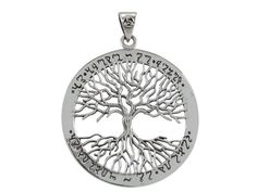 Sterling Silver 37mm Wiccan Tree Of Life Pendant – *as Above So Below* & *as Within So Without*