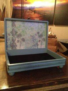 """Vintage 50s Upcycled Silverware Box Keepsake by TheMuseMercantile, $48.00.  Something new to look for at the thrift shops!  add """"bun"""" feet...so easy!"""