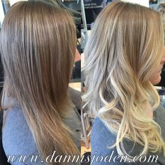 from a typical highlight to beachy blonde balayage ombré