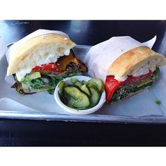 Grilled vegetables and goat cheese sandwich from @joansonthird in LA 😻 Photo Creds: @foodziela #thedailybite #joansonthird #foodporn #dinner #lunch #followback #sharefood #L4L