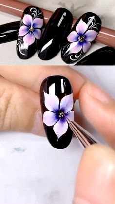 Nail Art Designs Videos, Nail Design Video, Nail Art Videos, Nails Design, Nail Art Tutorials, Design Design, Pink Nails, Gel Nails, Acrylic Nails