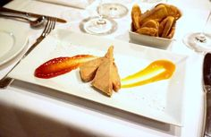 Foie gras servi avec croutons maison -- The restaurant recommendation engine that finds what you want to eat. Restaurant, Plastic Cutting Board, Kitchen, Dish, Kitchens, Cooking, Diner Restaurant, Restaurants, Home Kitchens