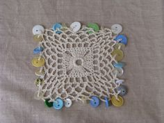 Square Crocheted Bowl/cup/milk jug cover with by handmaidbyjane