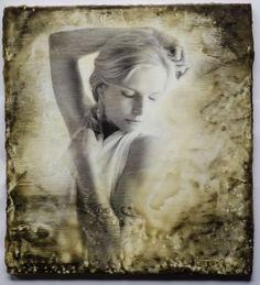 Photo Encaustic soft and romantic portrait by Monika Szolle
