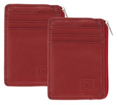 ID Stronghold Set of 2 Mini Wallets with RFID Protection