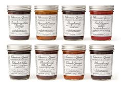 Eye 87 - Delicate identity and label design for Bonnie's Jams, Cambridge, Massachusetts, 2011. Made in small batches, Bonnie's artisan jam was originally designed by Bonnie herself. The new label uses a custom font developed from handwriting samples from the 1940s. Design: Louise Fili and John Passafiume.