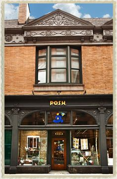 P.O.S.H. - unique vintage-y store in chicago. Love this place!