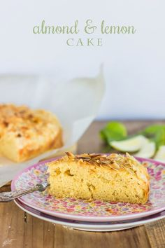 Almond and lemon cake Amazing Cakes, Sweet Recipes, Banana Bread, Almond, Favorite Recipes, Sweets, Blog, Healthy Cooking, Desserts