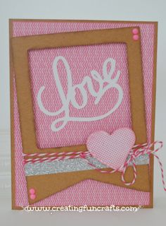 Valentine card using Lollydoodle paper pack