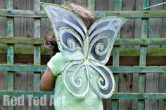 @Patti B Taylor we need to have a wing making party this December! Fairy Wing Craft - cost virtually nothing to make!