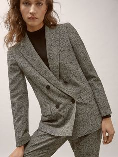 80af11e97e3 Fall Winter 2017 Women´s SLIM FIT CHECKED WOOL SUIT BLAZER at Massimo Dutti  for