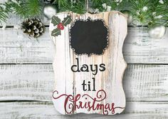Great Christmas Gift or Holiday Decoration. This beautiful and festive sign is a wonderful way to count down the days until Christmas.