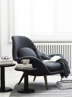 Fredericia furniture: The Modern Originals of tomorrow - minimal furniture design - Danish design - Swoon chair by Space Copenhagen - contemporary armchair