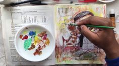 COLLAGE SKETCH PAINT// MIXED MEDIA ART JOURNALING PAGE// DOG & DUCK - YouTube