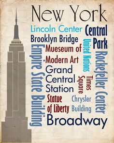 Sights of New York Poster