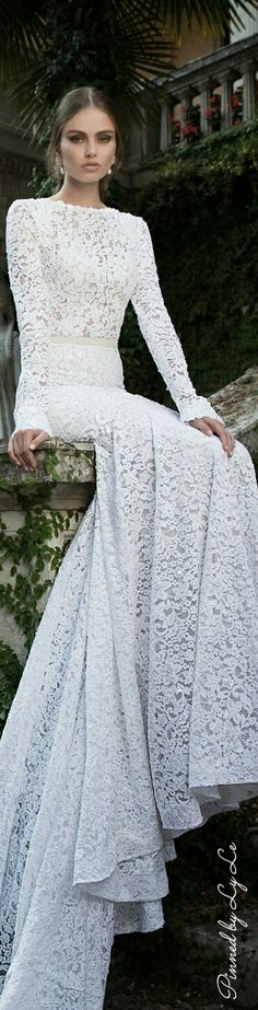 Whisper White Wedding Dress in Lace.
