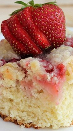 Strawberry Coffee Cake Recipe The BEST!