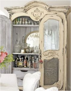 Lets look at other Romantic Shabby Chic items that can be found in the bedroom. Romantic Shabby Chic Cupboards A mirror in or on a cupboar. Romantic Shabby Chic, Shabby Chic Homes, Bedroom Romantic, Shabby Cottage, Shabby Bedroom, Cottage Chic, Cottage Style, Bedroom Decor, Wall Decor